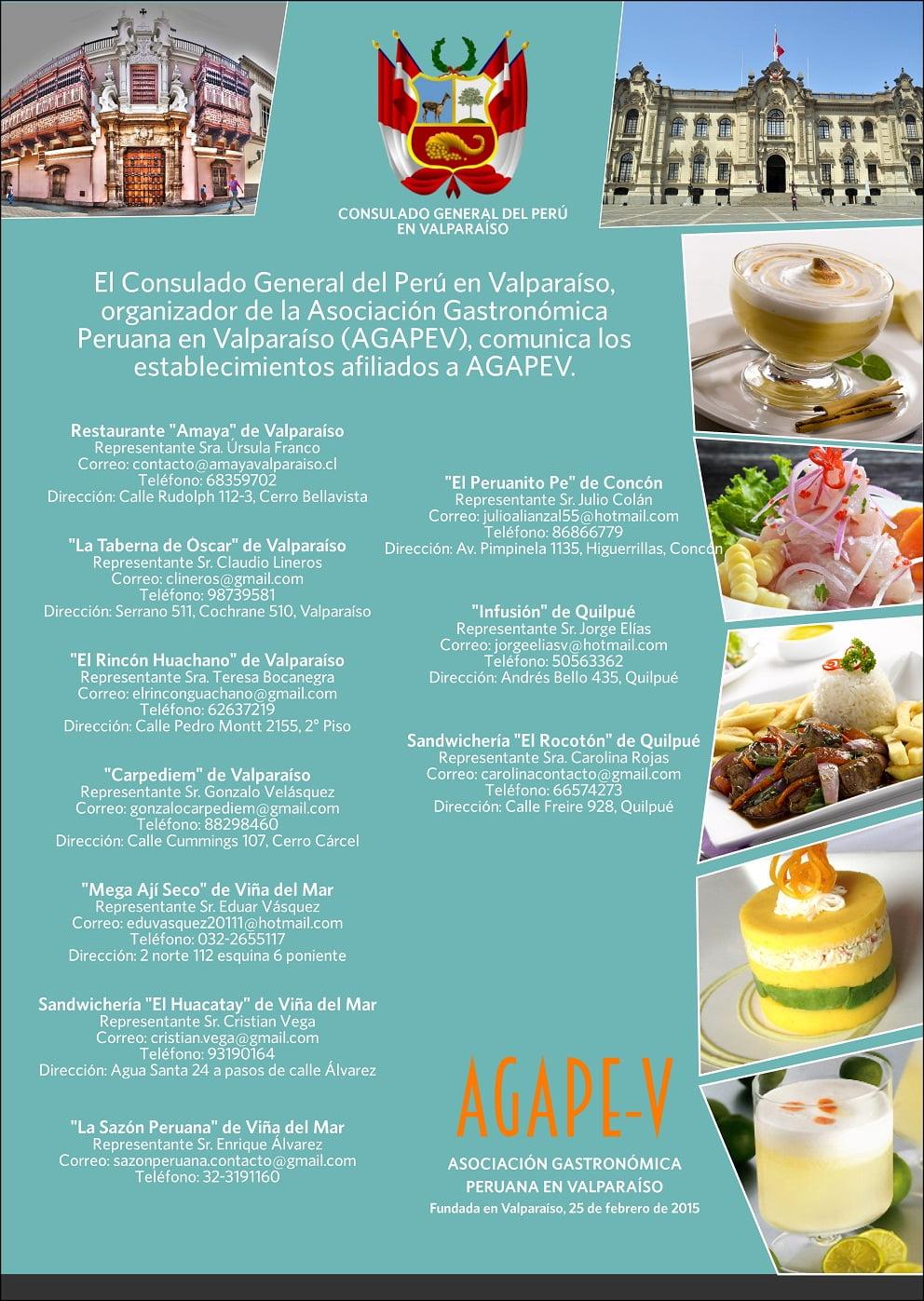 Afiche festival gastronómico en Chile