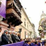 HOMENAJE AL SEÑOR DE LOS MILAGROS.