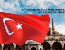 97° Aniversario de la Proclamación de la República Turca.