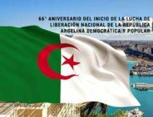 66° Aniversario del Inicio de la Lucha de Liberación Nacional de la República Argelina Democrática y Popular.