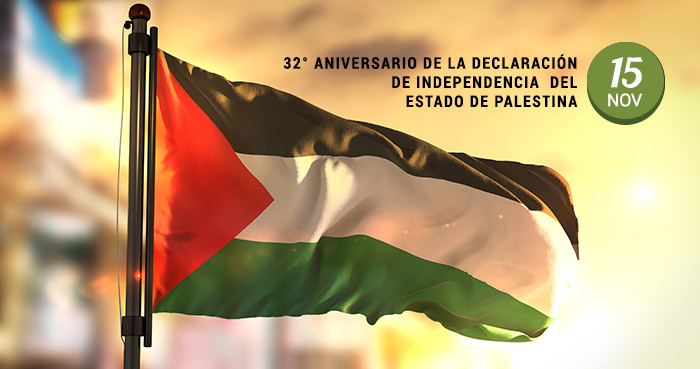 32° Aniversario de la Declaración de Independencia del Estado de Palestina.