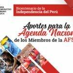 APORTES PARA LA AGENDA NACIONAL DE LOS MIEMBROS DE LA AFSDP