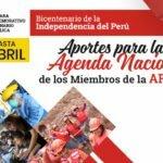 """""""APORTES PARA LA AGENDA NACIONAL DE LOS MIEMBROS DE LA AFSDP"""""""