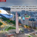 Argentina, 205° aniversario de la Proclamación de su Independencia.