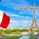 Francia, 232° aniversario de su Fiesta Nacional como República.