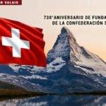 Confederación Suiza, 730° aniversario de su fundación.