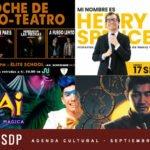 AGENDA CULTURAL 2021 SEPTIEMBRE: TEATRO, ARTES ESCÉNICAS, STANDUP Y CINE