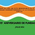 San Martín, 115° aniversario de fundación.